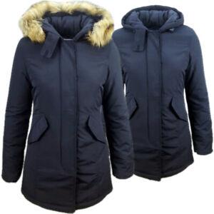 Giubbotto Donna giacca Giubbino Parka Invernale Lungo Impermeabile Cappuccio RQS