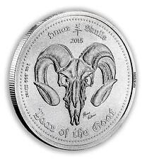 2015 Ghana 1 oz Silver Lunar Skulls - Year of the Goat Memento Mori - SKU #88567