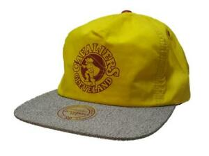 Cleveland Cavaliers Mitchell & Ness Yellow Flat Bill Elastic Painter Style Hat