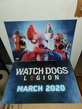 """Watch Dogs Legion Game Promo Posters Collectible 25""""×18"""" March 2020 (Lot of 2)"""