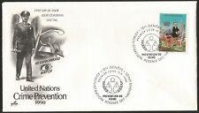 United Nations Fdc Prevention of Crime Police ersttag Geneva Stamp