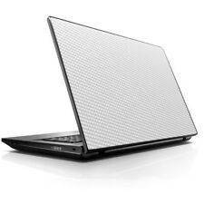 """Laptop Notebook Universal Skin Decal Fits 13.3"""" to 16"""" / White Carbon Fiber gra"""