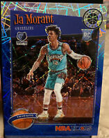 2019-20 NBA Hoops Premium Stock JA MORANT SSP RC Blue LASER PRIZM #41/99!!!🏀📈