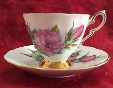 Paragon Tea Coffee Cup Mug And Saucer Rose Prelude Gold Trim Stamped Vintage Set