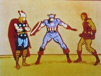 1966 Marvel Comics Super Heroes TV Cartoon Production Image Avengers Marvelmania
