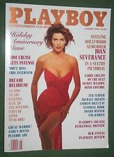 Playboy Jan 1990 POM Peggy McIntaggart Joan Severance Tom Cruise interview