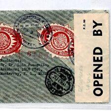 CQ31 WW2 INTERRUPTED MAIL Mexico 1941 Censor Registered Cover Lisbon via USA