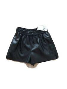 Zara faux leather shorts, black, size M