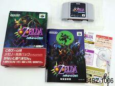 Complete Zelda Majora's Mask Nintendo 64 Japanese Import N64 (ind) US Seller B