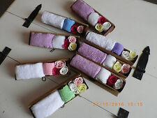 Coffret cadeau bain en bambou savon rose serviette et gant idéal maison d'hôtes