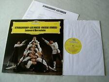 STRAVINSKY Les Noces/Messe Bernstein vinyl LP