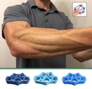 3x BlueFinger  Exerciser Strengthener Wrist Forearm Grip Trainer Resistance Band