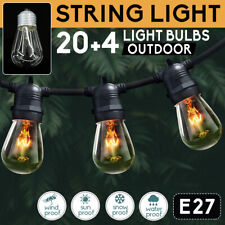 20M 24Pcs String Lights Bulbs Festoon Wedding Party Fairy Outdoor/Indoor Patio