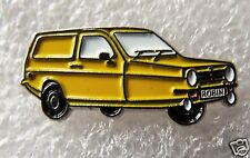 Reliant Robin Del Boy 3 wheeler Yellow enamel pin  badge