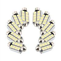 10 x White 8 SMD LED Festoon Interior Dome Bulb Light 43mm HY