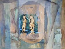Jacqueline PADOVANI (1929-2008) Aquarelle Jeune Peinture Nouvelle Ecole de Paris