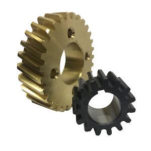 Generic Hobart Dough Mixer Bronze Gear & Genuine 103960 Shaft Gear A120 / A200