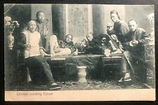1907 Victoria Hong Kong Picture postcard Cover To England Chinese Smoking Opium