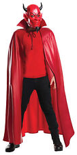 Scream Queen Adult Costume Red Devil Cape And Plastic Half Mask Halloween Rubies