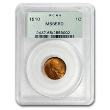 1910 Lincoln Cent MS-65 PCGS (Red)