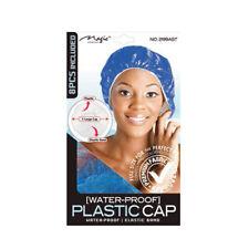 MAGIC WATERPROOF PLASTIC SHOWER CAP 2199 BLACK