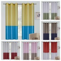 "2PC SET MIX MATCH COLOR GROMMET PANELS WINDOW CURTAIN DRAPE 63"" 84"" 95"" 108""LONG"