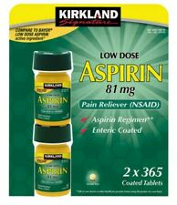 Kirkland Signature Low Dose Aspirin 81mg 730 Tablets 2 Bottle 365 Per Bottle
