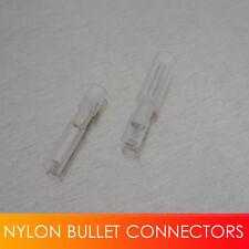 26-22Ga White 50pcs Male + 50pcs Female Nylon Bullet Connector Terminals Unique