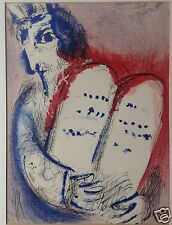 "Marc Chagall Moses 10 Gebote Lithographie aus ""La Bible"" Mose Gesetzestafeln ~56"