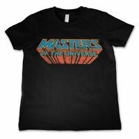 Masters of the Universe Vintage Retro Logo He-Man Kinder Kids T-Shirt Schwarz