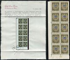 San Marino Pradal 1946 Hojita Obras Asistencia MNH Sajón 7 Certificado Diena