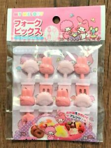 My Melody SANRIO Food Fork Pick 8 pcs  BENTO Lunch Box Accessories