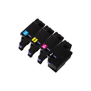 4PK Color Toner for Dell 1250C, 1350CNW, 1355CNW, C1760NW,  C1765NF, C1765NFWs
