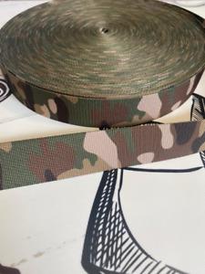 Camouflage Camo  Army Print Polypropylene Strap Webbing, BELTS, LANYARDS,STRAPS