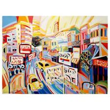 """Natalie Rozenbaum """"Allenby Scene"""" Signed Limited Edition Canvas with LOA"""