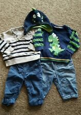 baby boys bundle jeans trousers hat age 3-6 months