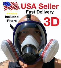 3D Full Face Respirator, LARGE, BRAND NEW, August 2020 STOCK, respirator paint