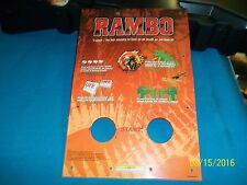 Sega Rambo Used Control Panel Start Button Instruction Plastic