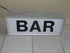 ancienne enseigne lumineuse BAR bistrot café publicitaire industriel métier