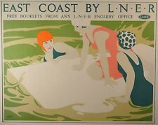 "Tom Purvis Lithograph ""East Coast by L.N.E.R"" Great Condition, Printed in France"