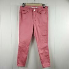 Seven7 Women's Size 10 Pink Colored High Rise Ankle Skinny Jeans Pants