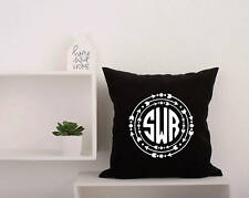 Monogram Pillow Covers. Name Pillowcase. Personalized Initials Arrows Pillow 67