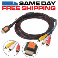 HDMI Male to 3RCA Video Audio AV Component Converter Adapter Cable HDTV 1080