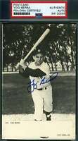 YOGI BERRA PSA DNA Autograph 1974 Photo Postcard Authentic Hand Signed