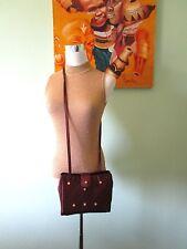 FENDI Limited Womens Wine Vtg Fashion Textile Cross Body Messenger Small Bag R67