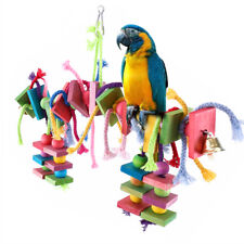Hot Sale Parrot Pet Bird Chew Hang Toys Wood Large Rope Cave Ladder Chew Toy