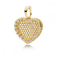 Pandora Encanto Pendiente Collar de Encaje Brillo Panal De Abeja 367111CZ S925 Ale
