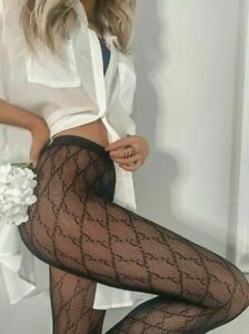 Brand new Gucci GG interlocking Tights Supreme stockings black L