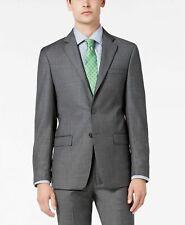Calvin Klein Men's Slim-Fit Stretch Gray Sharkskin Suit Jacket 42R Wool