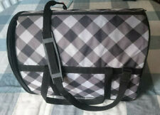 Carrier for Small Cat/Toy-breed Dog. Grey-Purple Shoulder Bag